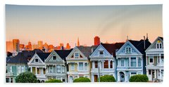 Painted Ladies Beach Towel by Bill Gallagher