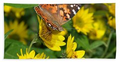 Beach Towel featuring the photograph Painted Lady by James Peterson