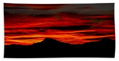 Beach Towel featuring the photograph Painted Sky 45 by Mark Myhaver