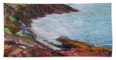 Painterly - Bold Seascape Beach Sheet