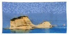 Islet In Peroulades Area Beach Towel