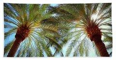 Pair Of Palms Vegas Style Beach Towel