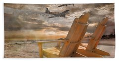 Pairs Along The Coast Beach Towel by Betsy Knapp