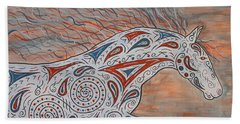 Beach Towel featuring the painting Paisley Spirit by Susie WEBER