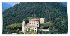 Palace At Lake Como Italy Beach Towel