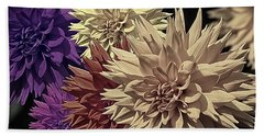 Pale Dahlias Beach Towel