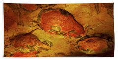 Paleolithic Paintings, Altamira Cave Beach Towel