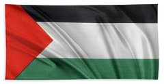 Palestine Flag Beach Sheet by Les Cunliffe