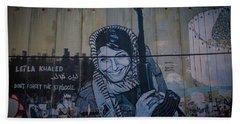 Palestinian Graffiti Beach Sheet