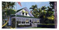 Palm Cottage Naples Florida Beach Towel