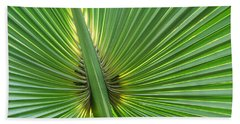 Beach Towel featuring the photograph Palm Love by Roselynne Broussard