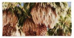 Beach Sheet featuring the painting Palm by Muhie Kanawati