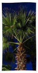 Palm Tree At Night Beach Towel