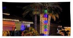Palm Tree Christmas 12765 Beach Sheet