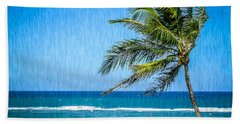 Palm Tree Swaying Beach Sheet