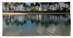Palm Trees Crystal Clear Lagoon Water And Tropical Fish Beach Sheet
