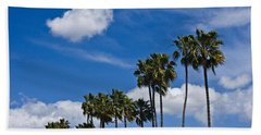 Palm Trees In San Diego California No. 1661 Beach Sheet by Randall Nyhof