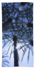 Beach Sheet featuring the photograph Palm Trees In The Sun by Jerry Cowart
