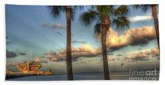 Palms At The Pier Beach Sheet