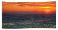Palouse Sunset Beach Towel