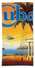 Pan Am Cuba  Beach Towel