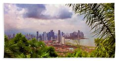 Panama City From Ancon Hill Beach Towel