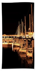 Panama City Marina Beach Towel by Debra Forand