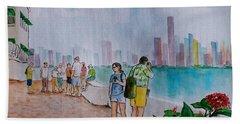 Panama City Panama Beach Towel by Frank Hunter