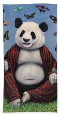 Panda Buddha Beach Towel by James W Johnson