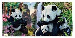 Panda Valley Beach Towel