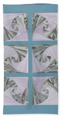 Beach Towel featuring the mixed media Panes by Ron Davidson