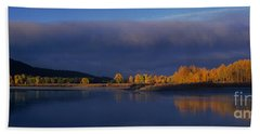 Beach Towel featuring the photograph Panorama Clearing Storm Oxbow Bend Grand Tetons National Park Wyoming by Dave Welling