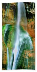 Beach Towel featuring the photograph Panorama Lower Calf Creek Falls Escalante Nm Utah by Dave Welling