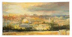 Panorama Of Jerusalem Beach Towel