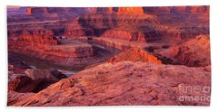Beach Towel featuring the photograph Panorama Sunrise At Dead Horse Point Utah by Dave Welling