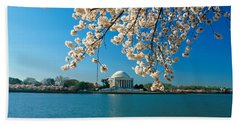 Panoramic View Of Jefferson Memorial Beach Sheet by Panoramic Images