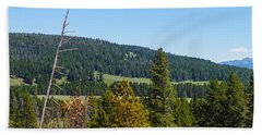 Panoramic Yellowstone Landscape Beach Sheet