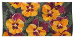 Pansies Are For Thoughts Beach Sheet