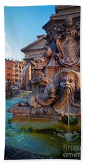 Pantheon Fountain Beach Towel