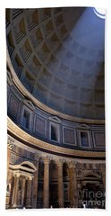 Beach Towel featuring the photograph Pantheon Interior by Brian Jannsen