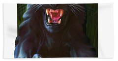 Panther Attack Beach Towel