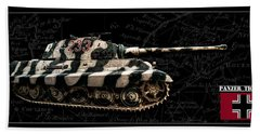 Panzer Tiger II Side Bk Bg Beach Towel