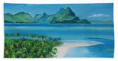 Papeete Bay In Tahiti Beach Sheet