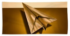 Paper Airplanes Of Wood 1 Beach Towel by YoPedro