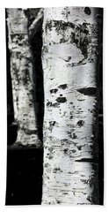 Black And White Beach Towel featuring the photograph Paper Birch by Aaron Berg