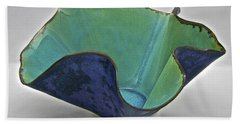 Beach Sheet featuring the sculpture Paper-thin Bowl  09-006 by Mario Perron