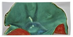 Beach Sheet featuring the sculpture Paper-thin Bowl  09-007 by Mario Perron