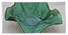 Beach Sheet featuring the sculpture Paper-thin Bowl  09-009 by Mario Perron