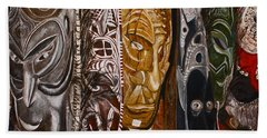 Papua New Guinea Masks Beach Towel