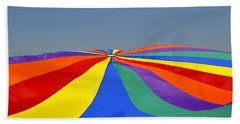 Parachute Of Many Colors Beach Towel by Verana Stark